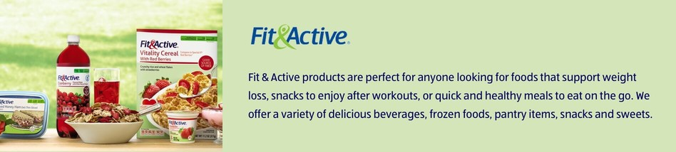 Fit & Active products are perfect for anyone looking for foods that support weight loss, snacks to enjoy after workouts, or quick and healthy meals to eat on the go. We offer a variety of delicious beverages, frozen foods, pantry items, snacks and sweets.