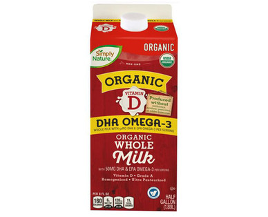 Simply Nature Organic Whole Milk with DHA Omega-3