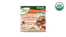 SimplyNature Organic Chia Seed Bars