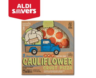 """Aldi Savers Mama Cozzi's Pizza Kitchen 12"""" Pepperoni Cauliflower Crust Deli Pizza"""