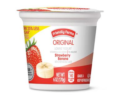 Friendly Farms Strawberry Banana Lowfat Yogurt