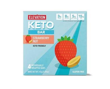 Elevation Strawberry Nut Keto Bar
