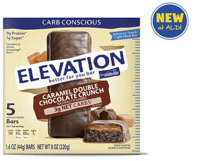 Elevation by Millville Caramel Double Chocolate Advance Bars