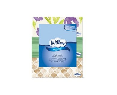 Willow 3 Pack Facial Tissue View 1