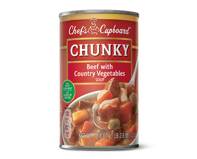 Chef's Cupboard Chunky Beef with Country Vegetables Soup