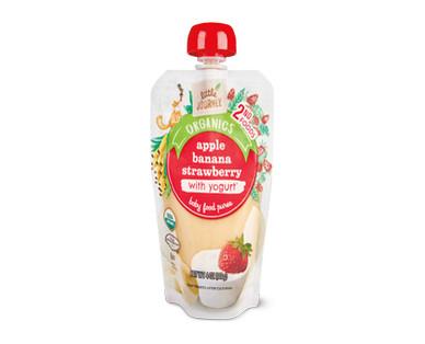 Little Journey Apple Banana Strawberry Yogurt Baby Food Puree
