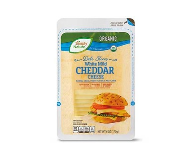 Simply Nature Organic White Chedder Deli Slices