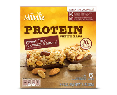 Millville Peanut, Almond and Dark Chocolate Protein Chewy Bar
