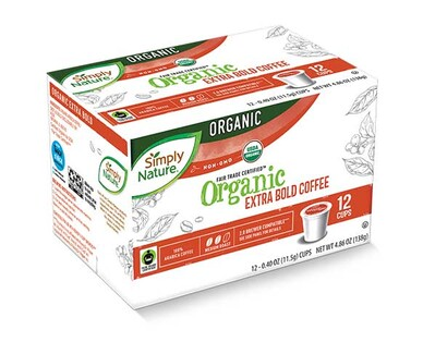 Simply Nature Organic Coffee Cups Extra Bold Roast