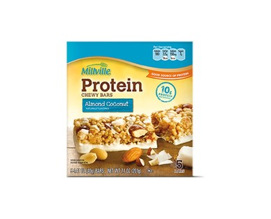 Millville Caramel Nut or Coconut Almond Protein Chewy Bars View 2