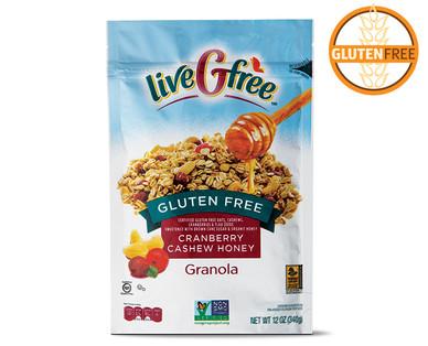 Gluten Free Cranberry Cashew Honey Granola