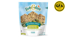 liveGfree Gluten Free Rosemary and Olive Oil Multiseed Crackers. View Details.