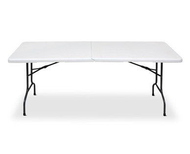 table with wheels. easy home 6\u0027 folding table with wheels