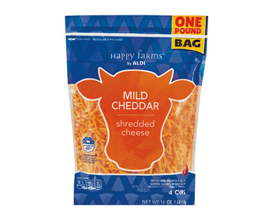 Happy Farms Mild Cheddar Shredded Cheese