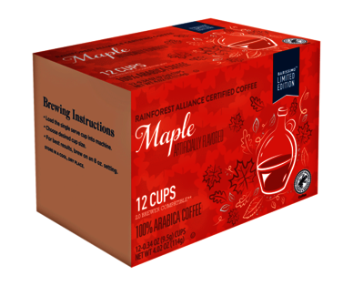 Barissimo Maple Flavored Coffee Cups