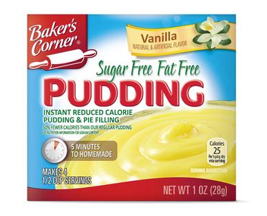 Baker's Corner Instant Sugar Free Fat Free Vanilla Pudding