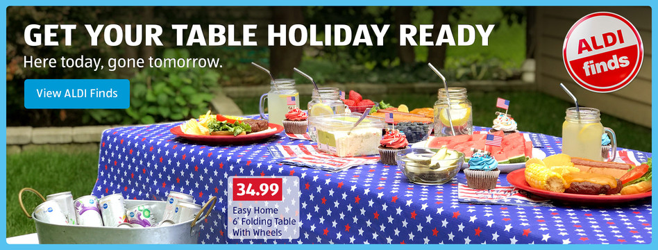 Get your table holiday ready. View ALDI Finds.