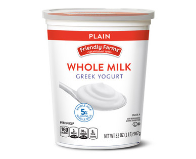 Friendly Farms Traditional Plain Whole Milk Greek Yogurt