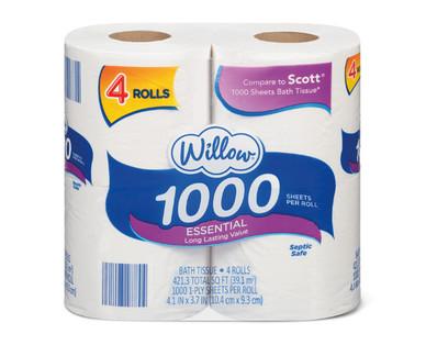 Willow 4 Roll1000 Sheet Bath Tissue