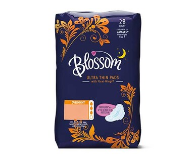 Blossom Overnight Ultra Thin Pads with Flexi-Wings