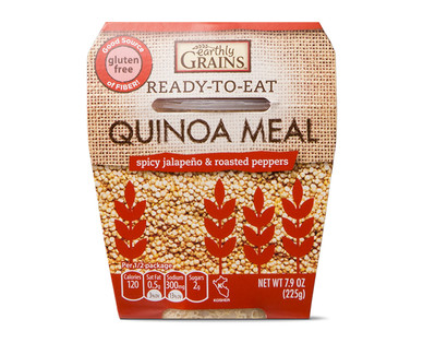 Earthly Grains Ready-To-Eat Spicy Jalapeno & Roasted Peppers Quinoa Meal