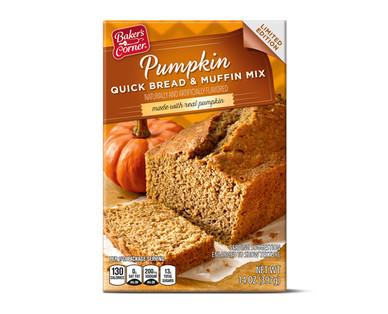 Baker's Corner Pumpkin Quick Bread & Muffin Mix