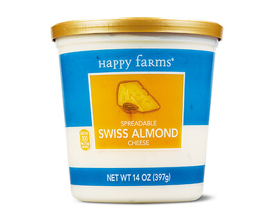 Happy Farms Swiss Almond Spreadable Cheese Cup