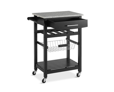 SOHL Furniture Kitchen Island with Granite Top View 3