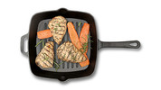 Crofton Pre-Seasoned Cast Iron Grill or Fry Pan