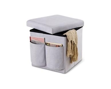 SOHL Furniture Foldable Storage Ottoman View 2