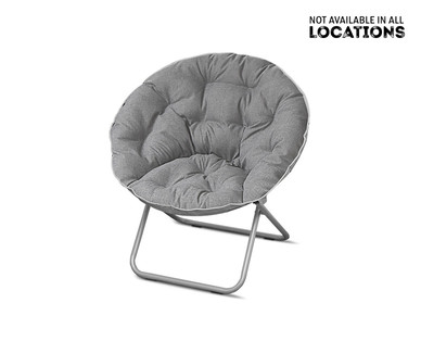 SOHL Furniture Faux Fur, Quilted or Mongolian Saucer Chair View 1