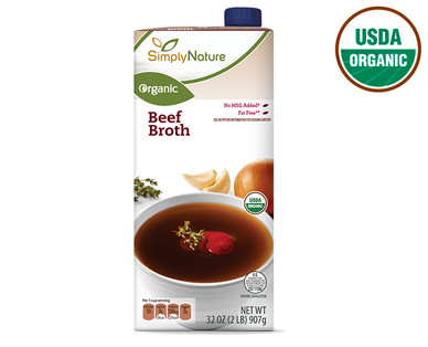 SimplyNature Organic Beef Broth