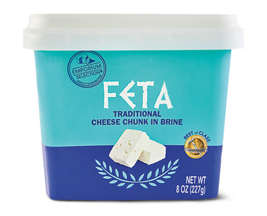 Emporium Selection Feta Traditional Cheese Chunk in Brine