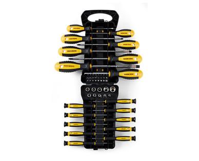 WORKZONE 45-Piece Screwdriver Set with Storage Rack View 2