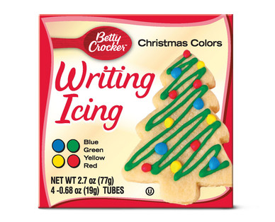 Betty Crocker Christmas Colors Writing Icing