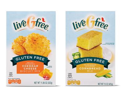 liveGfree Gluten Free Cheddar Biscuit or Cornbread Mix