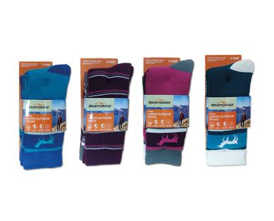 Adventuridge Ladies' or Men's 3 Pair Outdoor Socks View 3