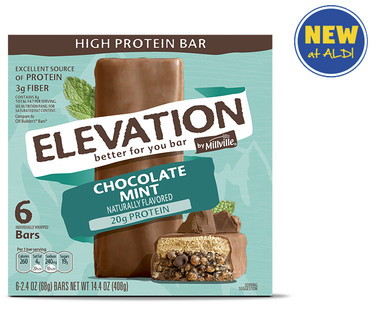 Elevation by Millville Mint Chocolate High Protein Bars