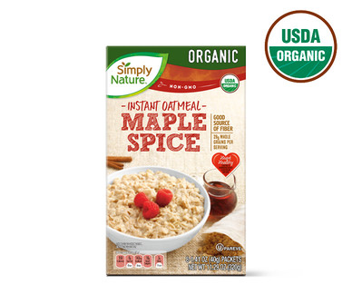 Simply Nature Organic Maple Spice Instant Oatmeal