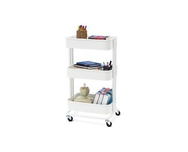 SOHL Furniture 3 Tier Metal Rolling Cart View 2
