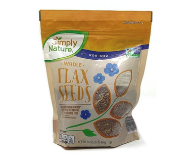 Simply Nature Brown Whole Flax Seed