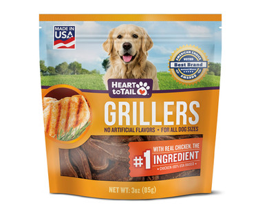Heart To Tail Griller Dog Treats - Chicken