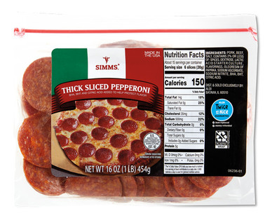 Simms Thick Cut Pepperoni