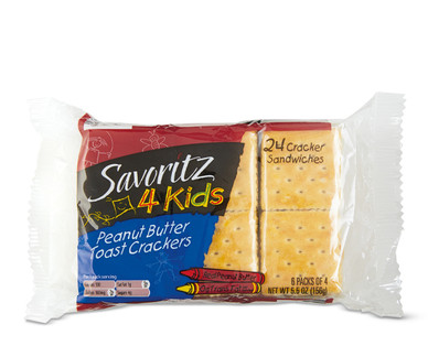 Savoritz Toast & Peanut Butter Sandwich Crackers
