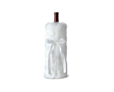 Merry Moments Faux Fur Wine Bag View 3