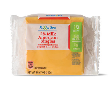 Fit & Active® 2% Milk American Singles