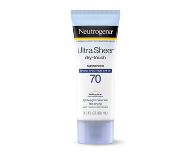 Neutrogena Sunscreen Ultra Sheer SPF 70 Lotion