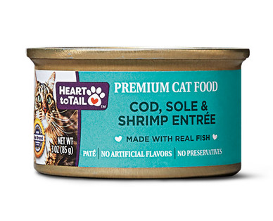 Heart to Tail Cod, Sole, & Shrimp Cat Food