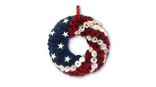 Huntington Home 4th of July Decorative Wood Curl Wreath