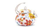 Crofton 2.3 Qt. Porcelain Teakettle